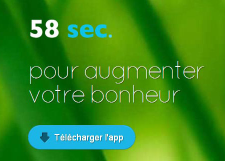 l'application 58sec n'est plus disponible
